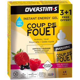 OVERSTIM.s Coup de Fouet Liquid Gel Box 3+1 Free 4x30g, Red Berries